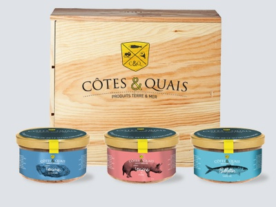 Côtes & Quais logo design packaging food