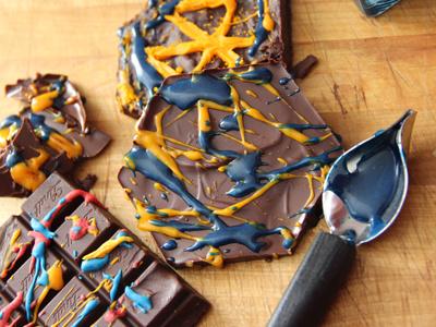 SMÄK Dripping logotype design food dripping chocolate