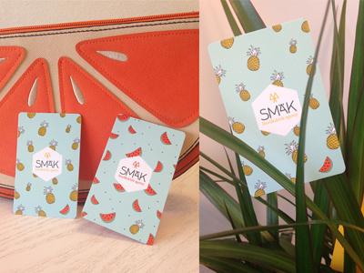 SMÄK Buisiness card buisinesscard branding identity logo pineapple