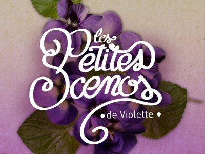 les Petites scenos de violette branding logotype identity flower decoration wedding