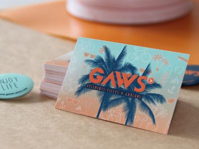 GAWS concept store branding businesscard identity conceptstore logo