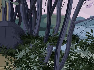 Butte sainte anne - Nantes fantastic landscape illustration adobe digitalpaint drawing designgraphic vector illustration
