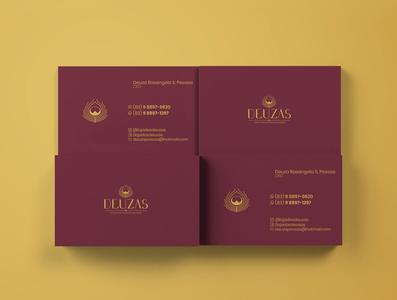Deuzas Store Business Card fashion store deusas businesscard lettering tipografia logo design