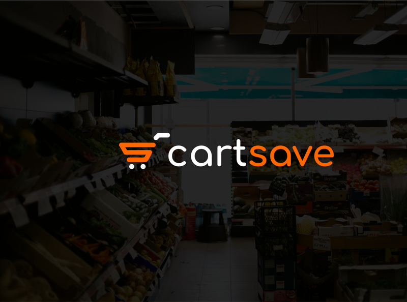 CartSave grocery online grocery app shopping cart shopping app groceries flat logo flat logo design flat design logo design logo