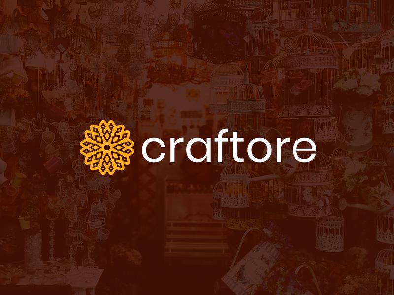 Craftore design clean vector logo design flat logo design flat  design flatdesign branding logo flat logo