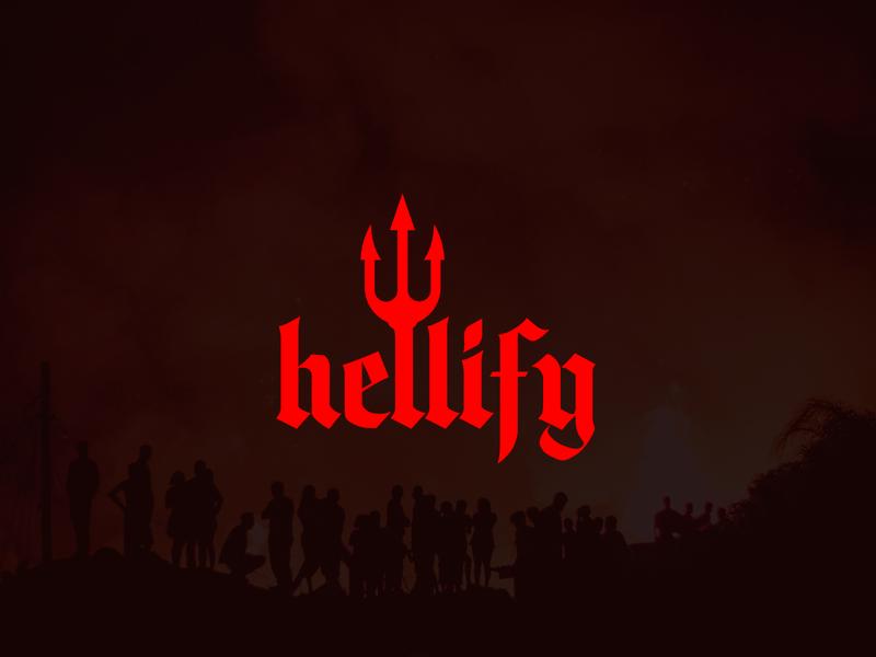 Hellify evil logo evil red logo redesign hell vector logo design flat logo design flat  design flatdesign branding logo flat logo