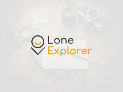 LoneExplorer traveling logo travel agency travel logo traveling travel travel app design clean vector logo design flat logo design flat  design flatdesign branding logo flat logo