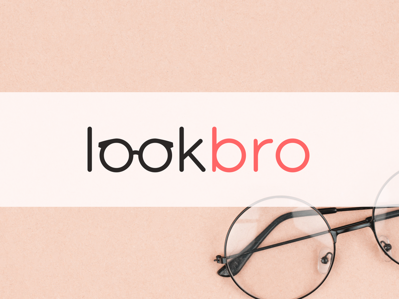 LookBro optic shop logo optics glasses logo glasses optic logo optical optic design clean vector logo design flat logo design flat  design flatdesign branding logo flat logo