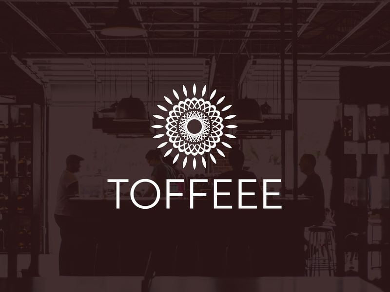 Toffeee abstract art abstract abstract logo glamour boho coffee shop logo coffee shop coffee clean vector logo design flat logo design flat  design flatdesign branding logo flat logo