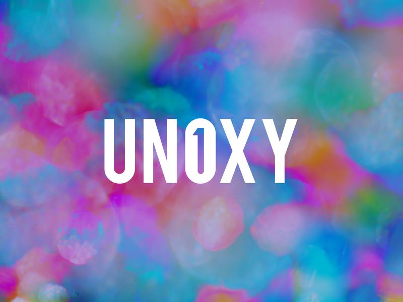 Unoxy 1 uno simple design simple logo wordmark logo wordmark design clean vector logo design flat logo design flat  design flatdesign branding logo flat logo