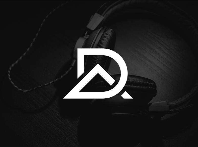 DA initial logo initial music logo modern logo simple logo logo design wordmark flat logo design flatdesign logo flat logo