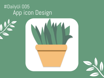 DailyUI#005 - App Icon garden plants art daily ui app icon ui app icon app icons app icon design app icon design ui logo illustration application beginner app design figma daily ui challenge dailyui