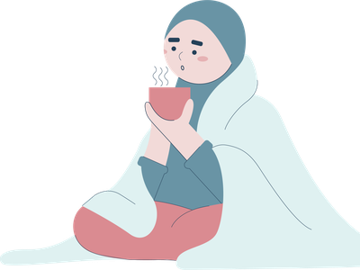Muslim Girl Illustration in Wintertime people illustration character characterdesign cartoon indonesia digitalart digitalpainting illustration vector