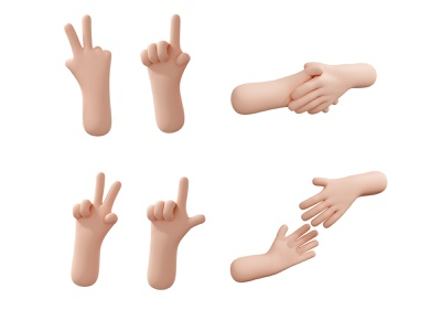3d hand gesture collection 3d animation 3d art 3d render 3d modeling 3d character 3d illustration 3d blender 3d hand characterdesign people illustration illustration digitalpainting