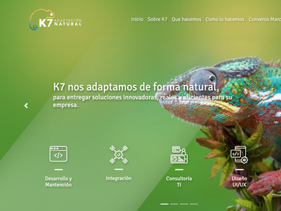 Sitio Web K7 website ui responsive design
