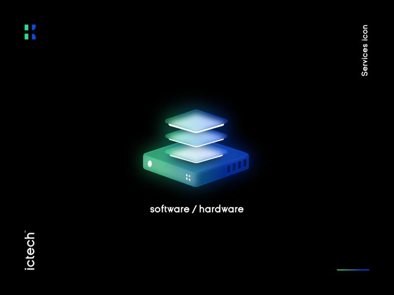 Software and Hardware icon isometric isometric illustration isometric design brand identity tech technology digital vector illustration icon