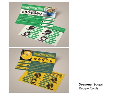 Seasonal Soups typography illustration vector design