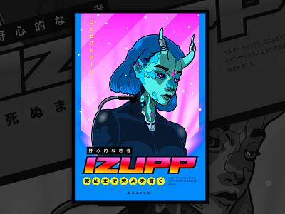 Izupp  - OAV Style Poster art design ilustration graphic design illustrator poster design oav poster