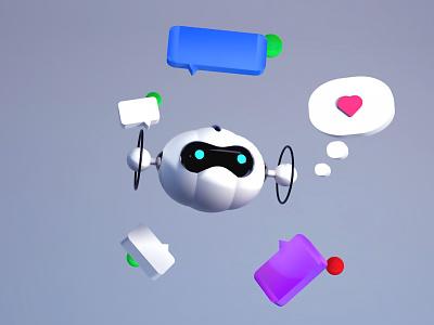 Small Robot 🤖 — 3D Experiment render 3d 3d character robot illustration visual design 3d experiment 3d scene