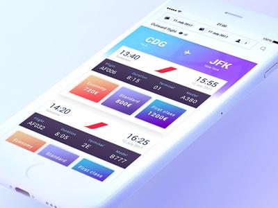 Flights List - Mobile UI Inspiration