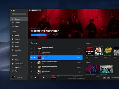 iTunes x Apple Music - UI Inspiration mac os music app product dark mojave visual interface design app ux ui
