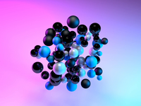 Lights & Bubbles - C4D Experiment