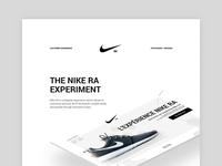 Nike RA - Experiment