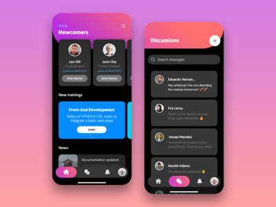 Online Courses - Mobile UI [Night Mode]