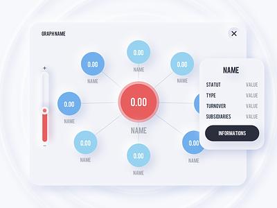 Neumorphism - Force Directed Tree neumorphism skeuomorphic ux user interface ui design ui product design skeuomorph inspiration graphs data visualization dataviz