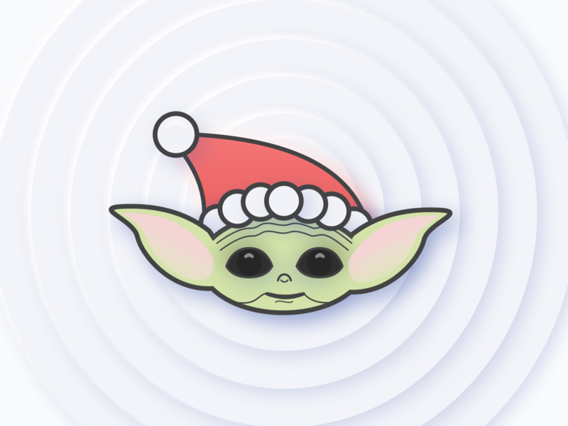 Merry Christmas - Baby Yoda design christmas the mandalorian star wars movie sketch vector illustration baby yoda