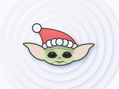 Merry Christmas - Baby Yoda design christmas the mandalorian star wars movie sketch vector illustration baby yoda