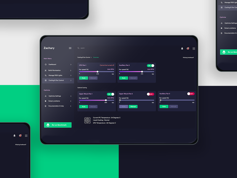 Zachary App Design dashboard ui dashboad web app design ui