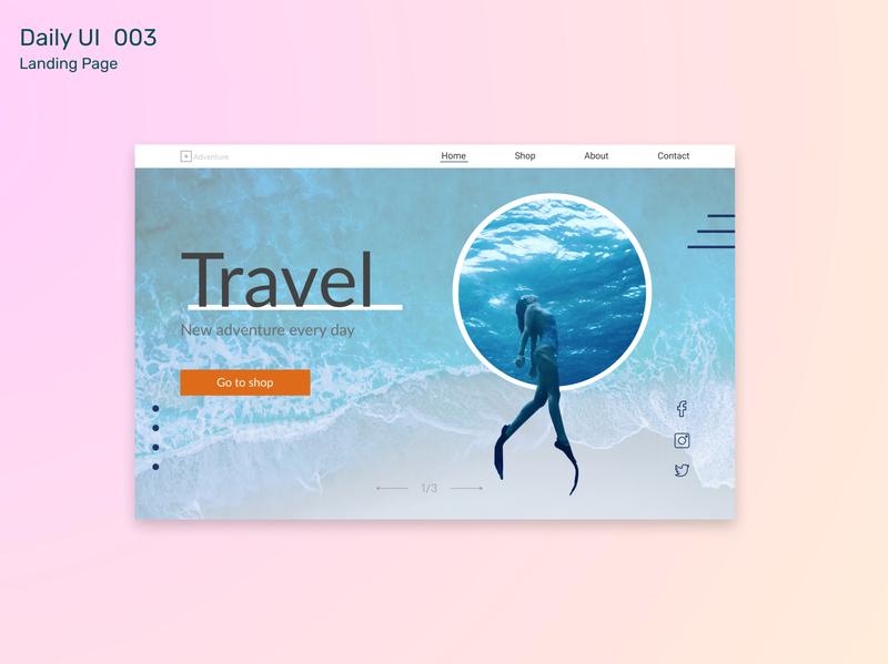 #DailyUI Challenge 003 - Landing Page desktop landing page branding clean challenge design ux ui