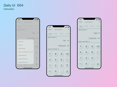 #DailyUI Challenge 004 - Calculator app concept color calculator desktop clean challenge ux ui design