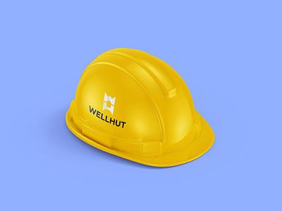 Wellhut   Construction of wooden houses building house hut wellhut identity logo design branding brand