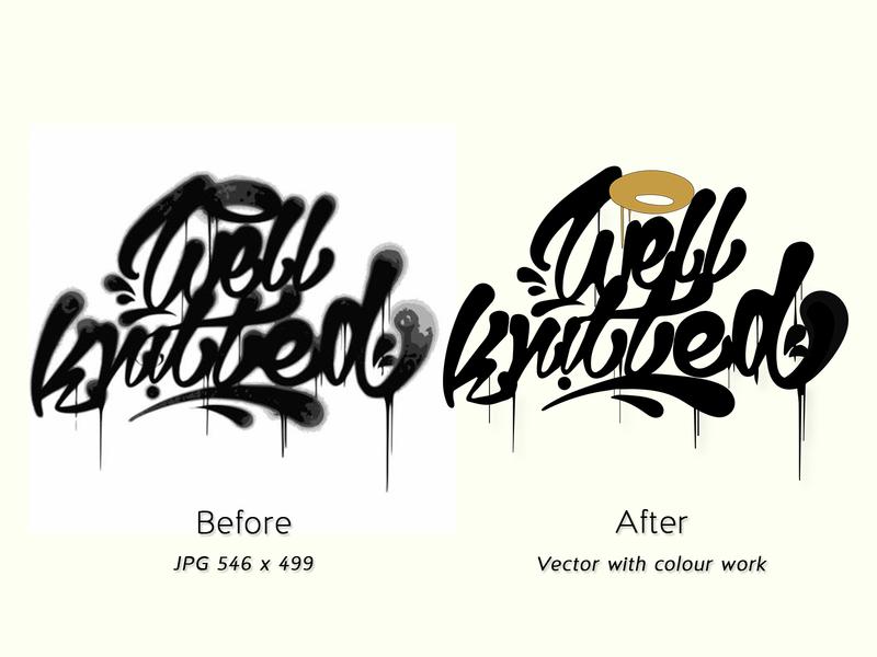 Vector overhaul from low-res JPG vector art logo vector