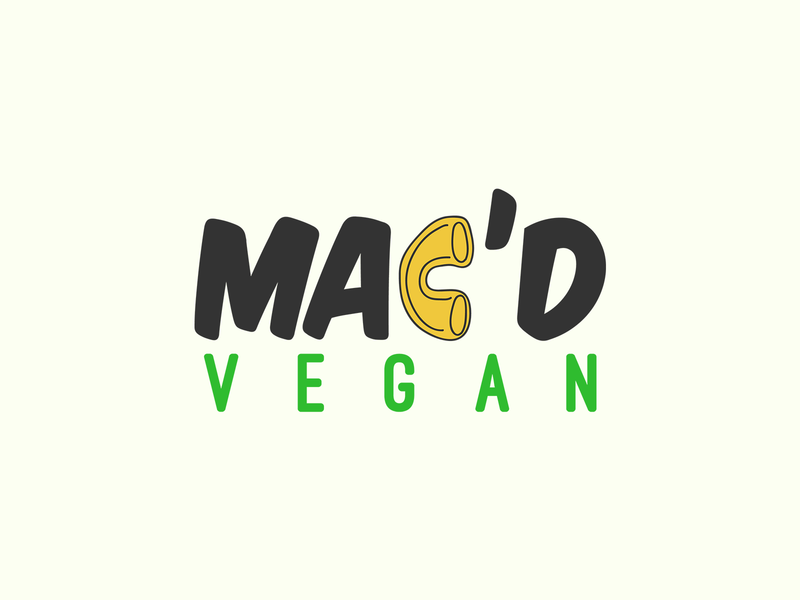 Vegan food brand flat design logo vegan