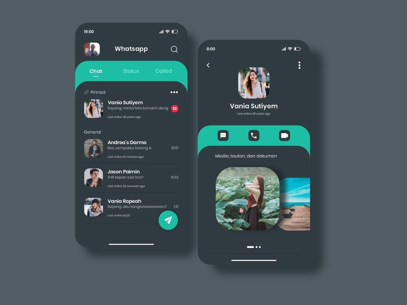 Redesign WhatsApp UI ui  ux app design user interface uidesign adobexd ux branding illustration website icon app flat ui web design