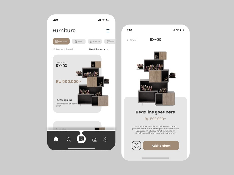 Mobile Apps Lacasa Home furniture ecommerce event web design website web user inteface uiux design uiux uidesign ui illustration icon flat design branding app design app adobexd