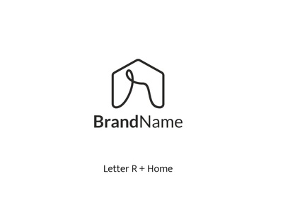 Home Monogram R Logo business appartment property residential real estate home illustration typography vector logo icon design branding