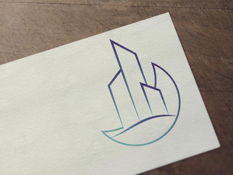 Karina building logo illustration design