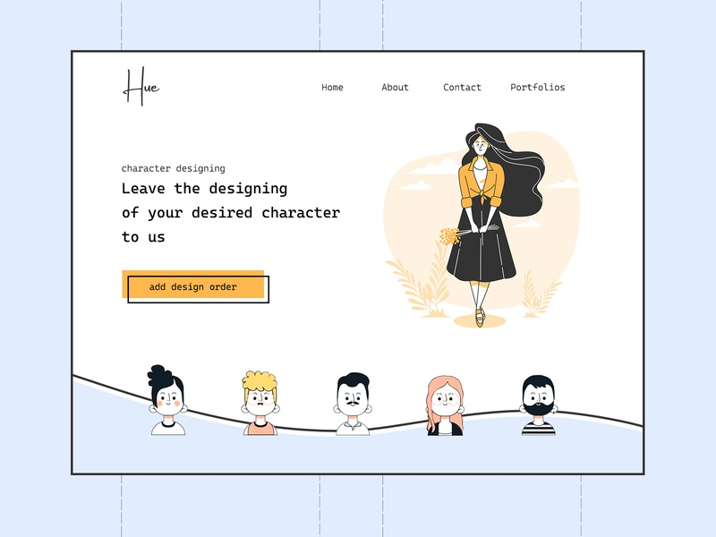 Flat Hero freepik photoshop hero banner flat web vector ux ui illustration design