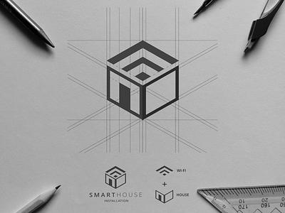 Logo design smarthouse smart home smarthome designer logo design logotype branding logo