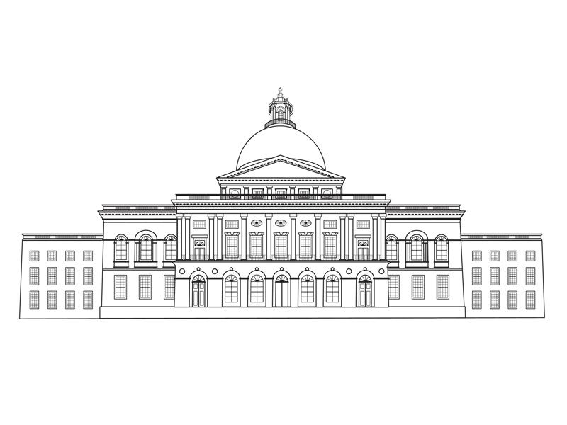 Massachusetts State House Boston, MA by Margaret Walsh on