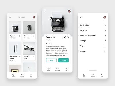 Second-hand app uidesigner inspirationdesign inspiration uiuxdesign uiux sketchapp interfacedesign uidesign web app ux ui design