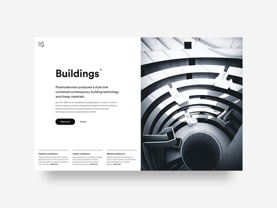 Buildings concept uidesigner inspiration concept ui design minimalism userinterface webdesign web interface uidesign uxui ui