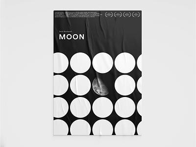 Moon poster black and white blackandwhite movie samrockwell moon diseño gráfico diseño posterdesign poster graphicdesign designer graphics designinspiration design