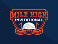 Mile High Invitational Logo Concept colorado team building company football sports nfl golf denver broncos broncos denver mile high