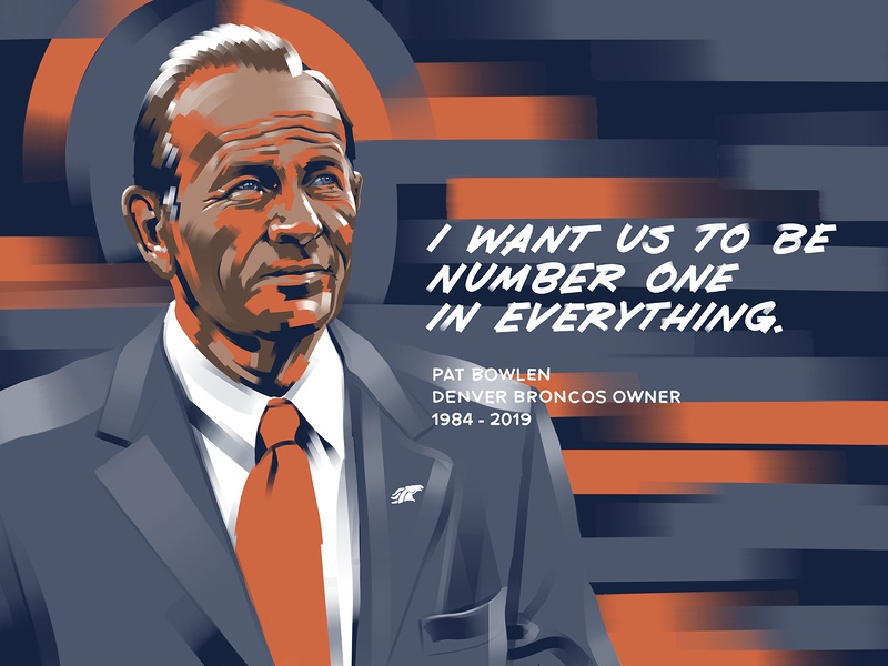 Boys & Girls Club Pat Bowlen Mural Art ipad club kids youth colorado denver procreate mural owner denver broncos broncos