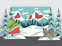 Denver Broncos Santa Meet & Greet Enviormental Design